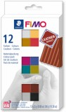 FIMO leather effect sada - 12 barev