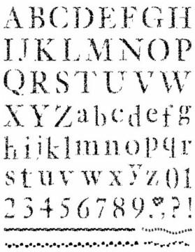 Gelová razítka velikost 15x20 cm - Abeceda, čísla, bordury