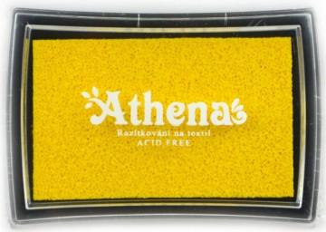 Poduška pro razítkování na textil ATHENA – žlutá