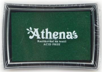 Poduška pro razítkování na textil ATHENA – zelená