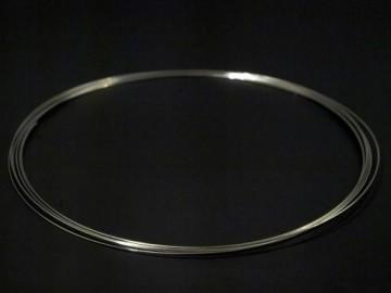 Paměťový drát na výrobu náhrdelníků (5 otoček), platina