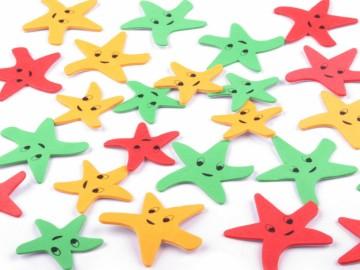 Samolepky z pěnovky - hvězdice