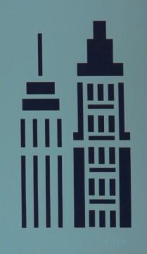 Šablona plastová 12x20 cm, motiv MĚSTO