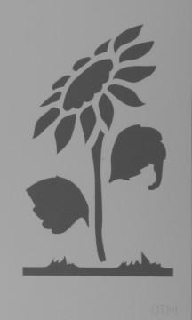 Šablona plastová 12x20 cm, motiv SLUNEČNICE