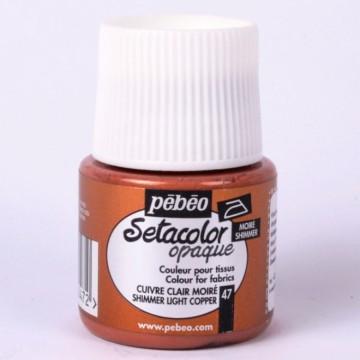 Setacolor 45 ml metalická měděná barva na textil č. 47