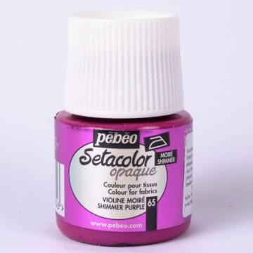 Setacolor 45 ml metalická purpurová barva na textil č. 65