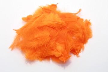 Barevná peříčka - tmavě oranžová