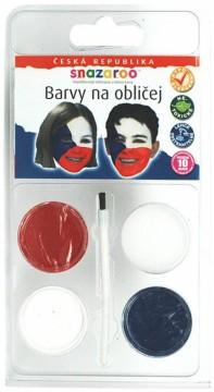 Barvy na obličej - vlajka ČR