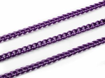 Řetízek kovový barevný – tmavě fialová