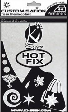 Hot-fix nažehlovací fólie sametová bílá