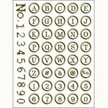 Gelová razítka velikost 15x20 cm – Písmenka a číslice - v kroužku