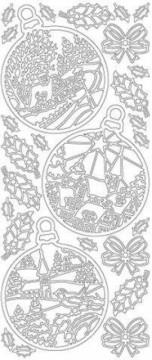 Obrysové samolepky (kontury) - Vánoční baňky (zlaté)