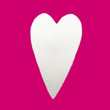 Ozdobná děrovačka podlouhlé srdce 1,6 cm