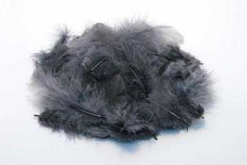 Barevná peříčka - šedá