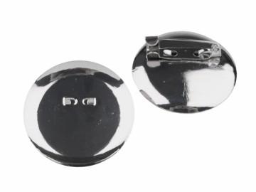 Brožový můstek s plíškem větší (1 ks), barva platina