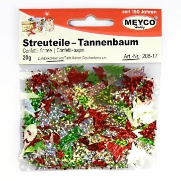 Konfety - Vánoční stromky třpytivé 20 g