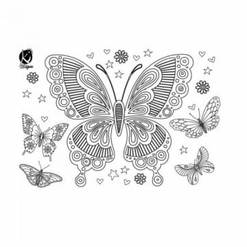 Nažehlovací obrázek - Motýl (černý)