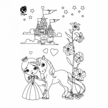 Nažehlovací obrázek - Princezna (černý)