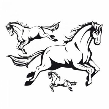 Nažehlovací obrázek - Kůň (černý)