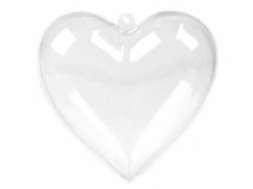 Plastové srdce 47x80x80 mm, rozkládací