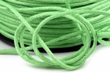 Šňůra bavlněná voskovaná 1,5 mm délka 3 m - světle zelená