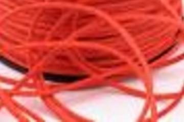 Šňůra bavlněná voskovaná 1,5 mm délka 3 m - mandarinková