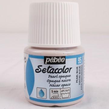 Setacolor 45 ml perleťová modrá barva na textil č. 95
