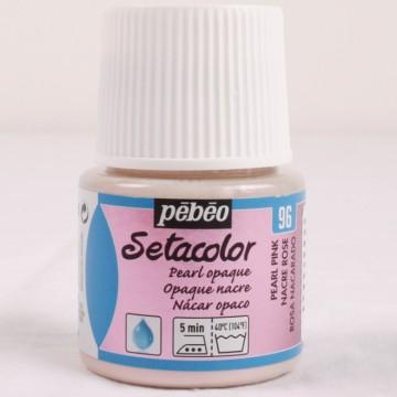 Setacolor 45 ml perleťová růžová barva na textil č. 96