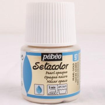 Setacolor 45 ml perleťová zlatá barva na textil č. 97