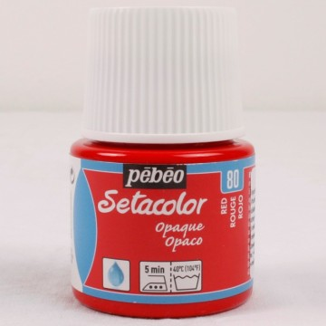 Setacolor 45 ml červená barva na textil č. 80