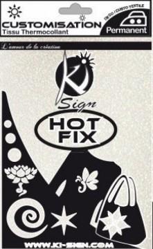 Hot-fix nažehlovací fólie třpytivá bílá