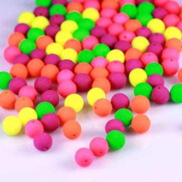 Neonové korálky 8 mm, mix (15 ks)