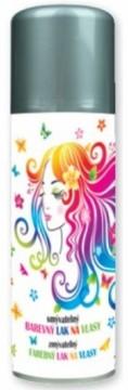 Barva na vlasy ve spreji 125 ml - stříbrná