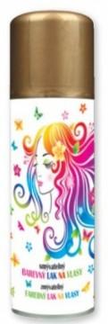Barva na vlasy ve spreji 125 ml - zlatá