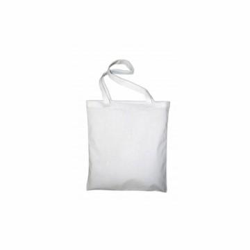 Bavlněná taška s dlouhým uchem, barva bílá