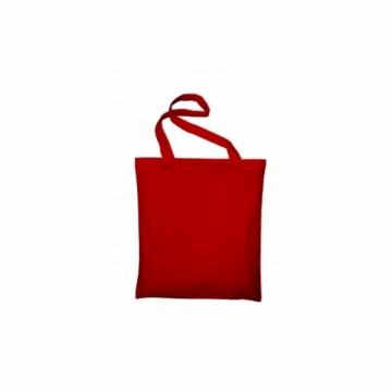 Bavlněná taška s dlouhým uchem, barva červená