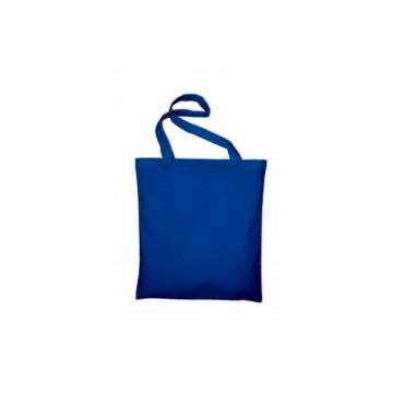 Bavlněná taška s dlouhým uchem, barva modrá
