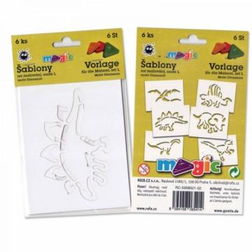 Papírové šablony sada L - Dinosauři