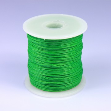 Šňůra bavlněná voskovaná 1 mm délka 3 m - zelená