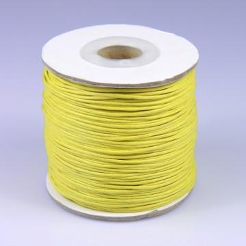 Šňůra bavlněná voskovaná 1 mm délka 3 m - žlutá
