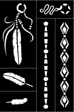 Samolepící flexibilní šablona Indiánské peří