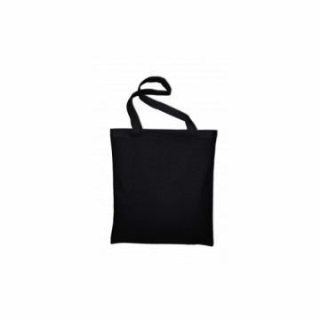 Bavlněná taška s dlouhým uchem, barva černá