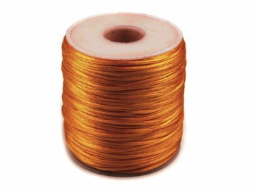 Šňůra průměr 1 mm saténová – zlatá