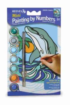 Malování podle čísel mini - Delfín