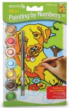 Malování podle čísel mini - Pejsek labrador