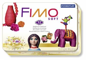 FIMO soft sada - RETRO (kovový box)