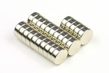 Magnety neodymové válec 6x2 mm (25 ks)