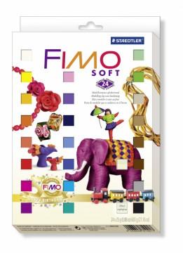 FIMO soft sada RETRO - 24 barev + 4 vykrajovátka