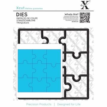 Vyřezávací kovové šablona (1 ks) - Puzzle