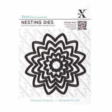 Vyřezávací kovové šablony (5 ks) - Květiny špičaté